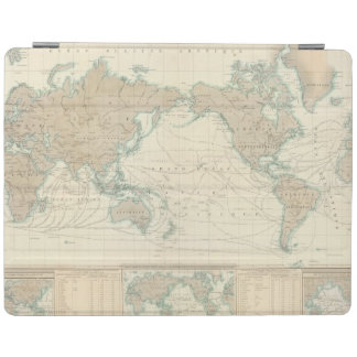 World Map of the Shipping Canals iPad Cover