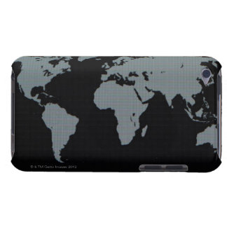 World Map on Computer Monitor Barely There iPod Cover