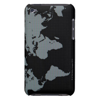 World Map on Computer Monitor iPod Touch Cases