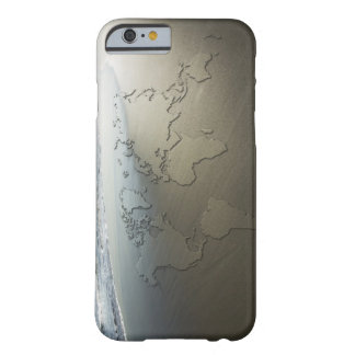 World map on sand barely there iPhone 6 case