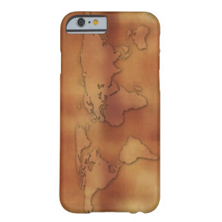 World map on textured background barely there iPhone 6 case