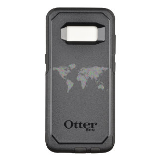World map OtterBox commuter samsung galaxy s8 case