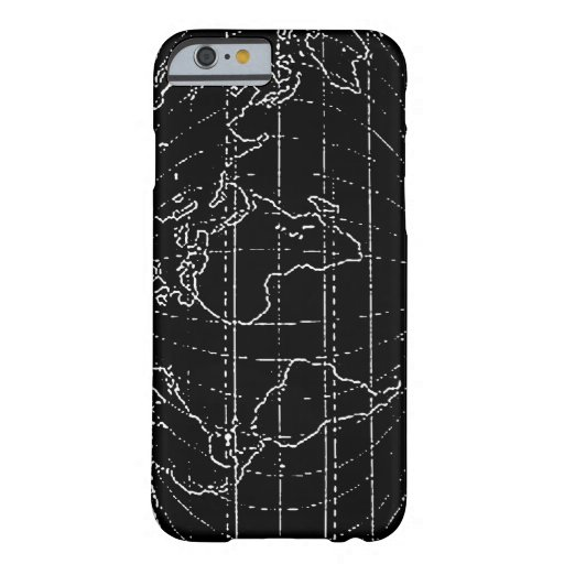 world map outlined barely there iPhone 6 case