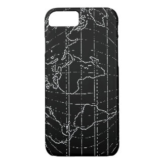world map outlined iPhone 7 case