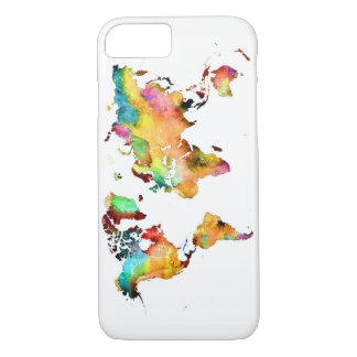 world map phone iPhone 7 case