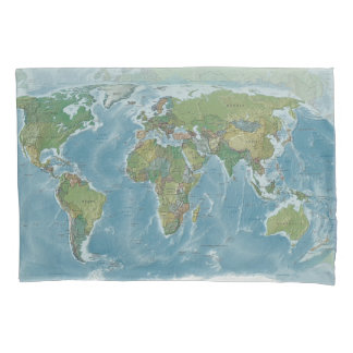 World Map Pillow Case - travel, wanderlust