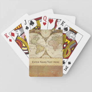 World Map Playing Cards
