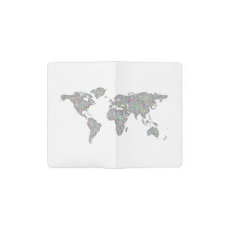 World map pocket moleskine notebook
