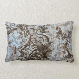 World Map Poseidon Lumbar Pillow