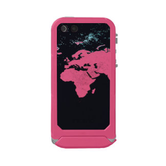 world map print on mobile case, incipio ATLAS ID™ iPhone 5 case