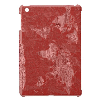 world map red 1 case for the iPad mini