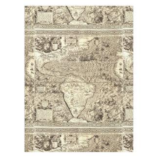 World Map Sea Serpents Tablecloth