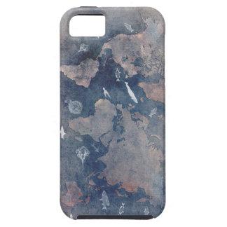 world map sealife tough iPhone 5 case