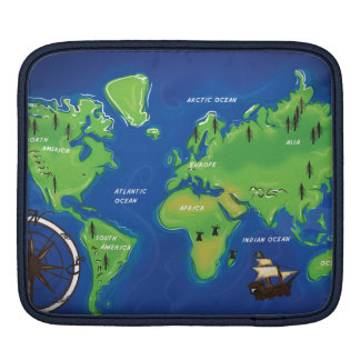World Map Sleeve For iPads