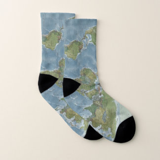 World Map Socks 1