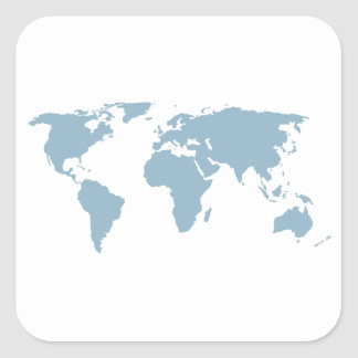 World Map Square Sticker