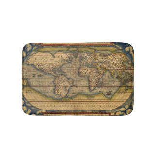 World map Theatrum Orbis Ancient Travel Bath Mats