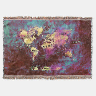 World Map Throw Blankets Zazzlecomau - World map blanket