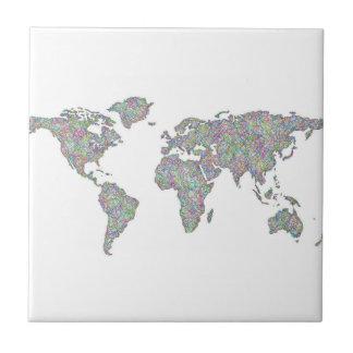 World map tile