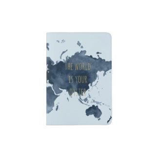 World Map Travel Quote Passport Holder