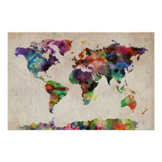 World Map Posters | Zazzle.com.au