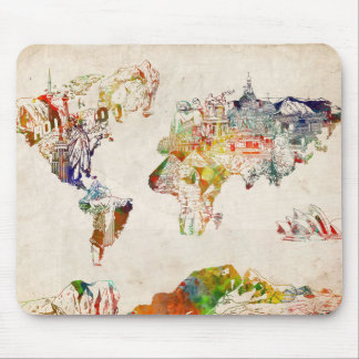 world map vintage 2 mouse pad