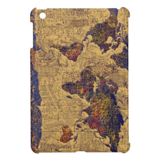world map vintage cover for the iPad mini
