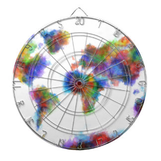 world map watercolor 16 dartboard