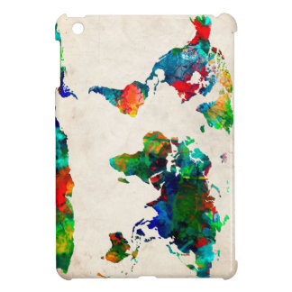 world map watercolor 20 cover for the iPad mini