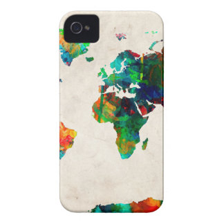 world map watercolor 20 iPhone 4 cases