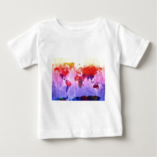world map watercolor 22 baby T-Shirt