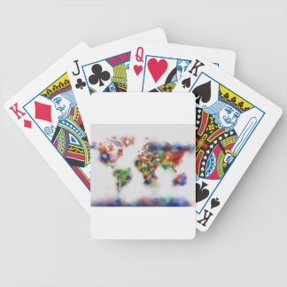 world map watercolor 25 bicycle playing cards