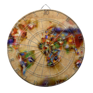 world map watercolor 26 dartboard