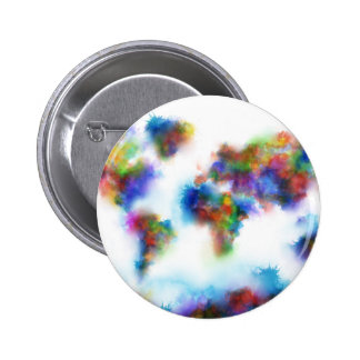 world map watercolor 2 6 cm round badge
