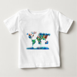 world map watercolor 34 baby T-Shirt