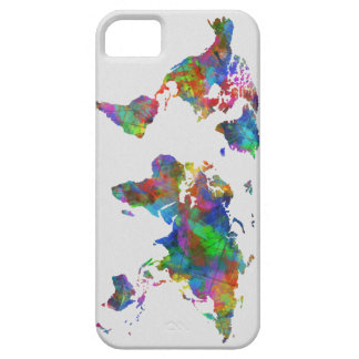 world map watercolor barely there iPhone 5 case