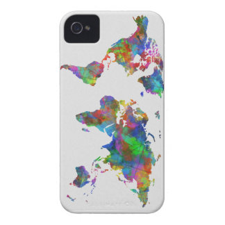 world map watercolor Case-Mate iPhone 4 case