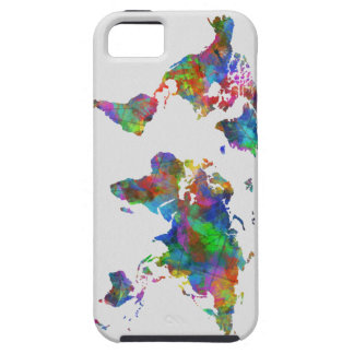 world map watercolor iPhone 5 covers