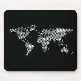 World Map with abstract geometric triangles Mouse Pad