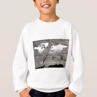 world map wood 13 sweatshirt