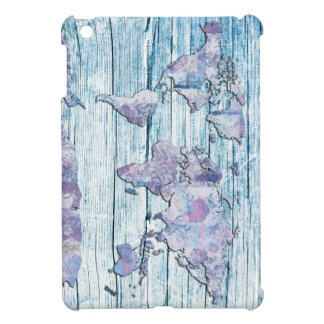 world map wood 14 case for the iPad mini