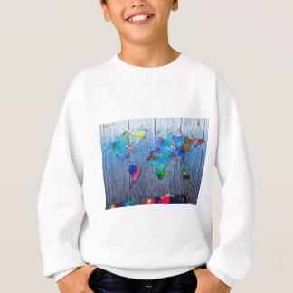 world map wood 2 sweatshirt
