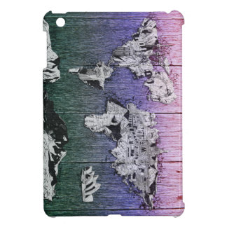 world map wood 6 case for the iPad mini
