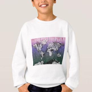 world map wood 6 sweatshirt