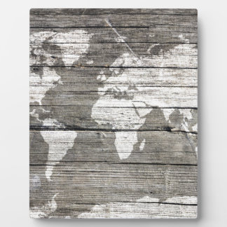 world map wood 8 plaque