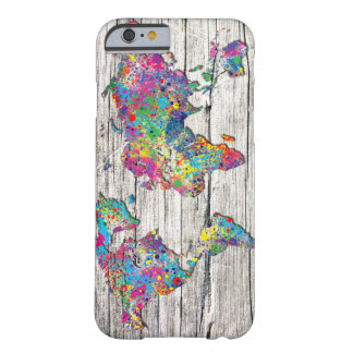 world map wood barely there iPhone 6 case