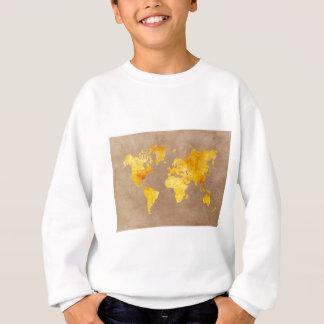 world map yellow sweatshirt