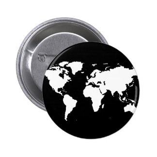 world maps ~ customizable color 6 cm round badge