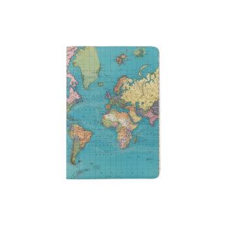 World, Mercator's Projection Passport Holder