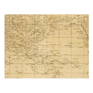 World Mercator's projection Postcard